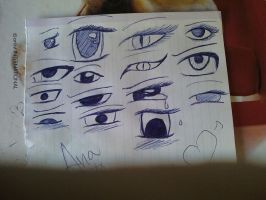 Anime eyes by sasukepervertgirl