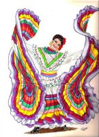 traditional mexican dancer by winstonscreator