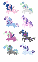 Breedable Foals for PricessOfTheNight by luxrayfan33