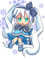 Chibi-Snow Miku by SkullDead