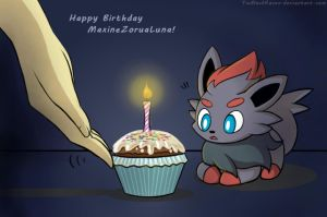 Happy Birthday MaxineZoruaLuna by TiaBlackRaven