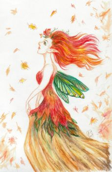 Autumn Fairy by Kaytara