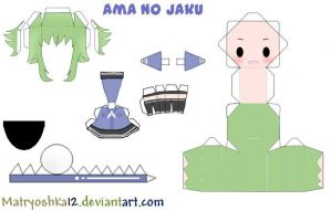 Ama no jaku Gumi Papercraft by matryoshka12