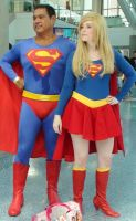 Superman and Supergirl at Comikaze Expo 2012 by trivto