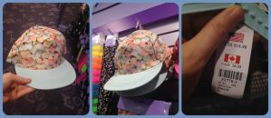 Claires Colorful Marshmallow Hat by KrazyKari