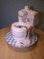 Toilet 50th Birthday Cake by reenaj