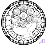 Amalthea Stained Glass Coloring Page by Akili-Amethyst