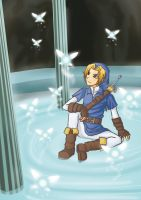 Zelda OOT - fairy fountain by ChibiEdo