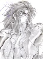 Gemini no Saga black n white by MistressAinley