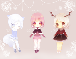 Winter Adopts Auction (CLOSED) Paypal+Points by ShiiroHana