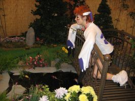 Cosplay at the Koi Pond by AKI-Con