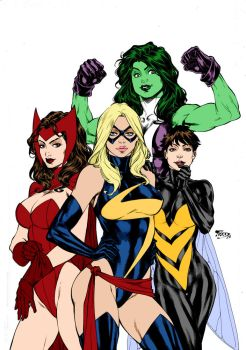 Avengers Girls By Fredbenes by Kenkira