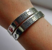 Raised (You) From Perdition Bracelet set by thnksfrthwilliam