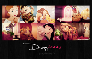 disney icons by simpleestyle