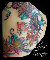 Butterfly and Flower Backpiece (Pt.4) by Metacharis