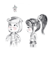 Vanellope and Rancis - Serendipity by artistsncoffeeshops
