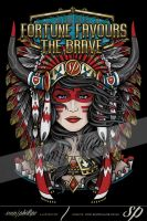 Fortune Favours The Brave American Indian by Sam-Phillips-NZ