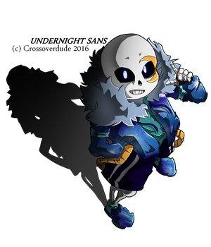 Art Trade: Undernight Sans by Crossoverdude