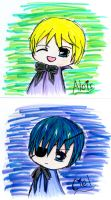 Alois and Ciel (chibi) by AmityChan
