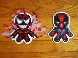 Carnage Deadpool Bead Sprite by SerenaAzureth