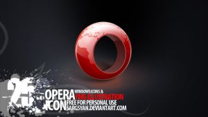 Opera Icon by sargsyan