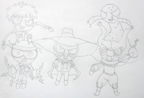 The Fearsome Five (PPG Style), Lineart by MetroXLR99