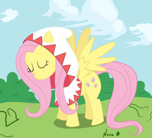 White Mage Fluttershy by fluorescentnova