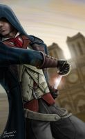 Arno, drawing sword by Maxstil
