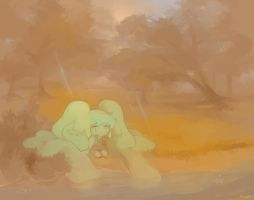 Aimottle near the lake by Tuyoki