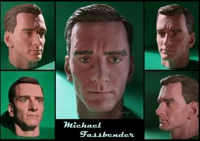 Fassbender sculpture by Lenka-Slukova