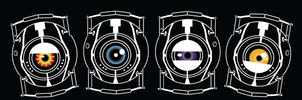 Portal Personality Cores by Littleblue22
