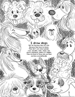 I draw dogs. by Coloran