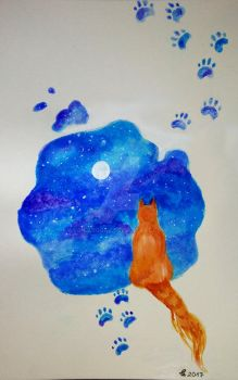 Cute Cat Stain by cicabogaj