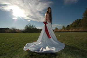 Red and White Dress 16 by Lynnwest-Stock