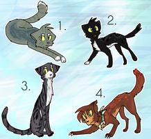 Cheap Warrior cats point adoptables CLOSED by TheBBTouho
