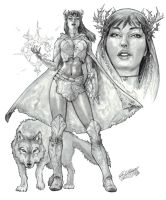 Morgan Le Fay Character Design by DeanZachary