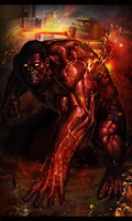 Red Hulk by v3numb