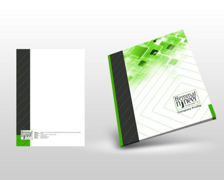 N-JNEER company profile cover design by ohmto