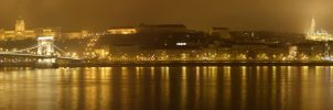 Panoramic view on Buda castle and Fisher Bastion by jochniew
