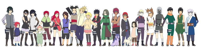 My Naruto children Color by SunakiSabakuno