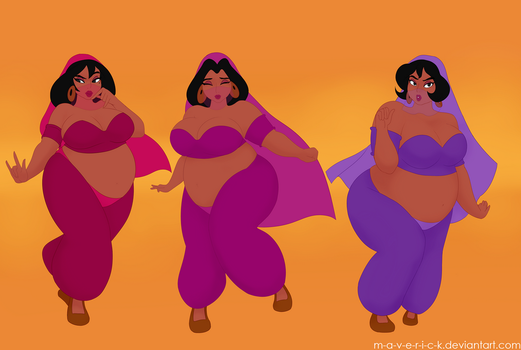 Harem Girls (Aladdin) by M-a-v-e-r-i-c-k