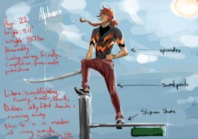 Alphonse, my OC dude guy by Stealthies