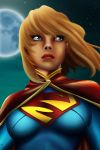 Supergirl painting by frostdusk