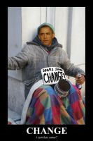 OBAMA - spare change by Stitchfan