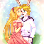 Art Trade: Alex and Alice by NaruFan808