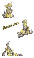 G1 Bumblebee Kitty by CelestialTentails