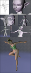 Feelfe (Fairielf) - from Sketch To Quidam3D (WIP) by Aleayo