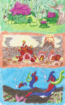 Ancig Region Starters in nature by WesleyFKMN