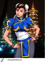 Chun Li by Garrett Blair by Mythical-Mommy