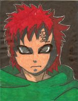 Markered Gaara by PyroRaveHeart71